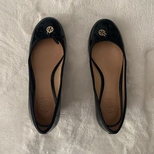 Tory Burch Black and Brown Wedge